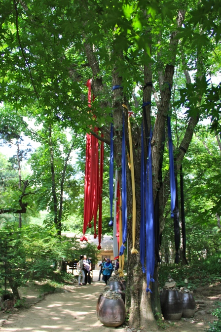 Those ribbons are always tied to the oldest tree in the village... for reasons I don't know.