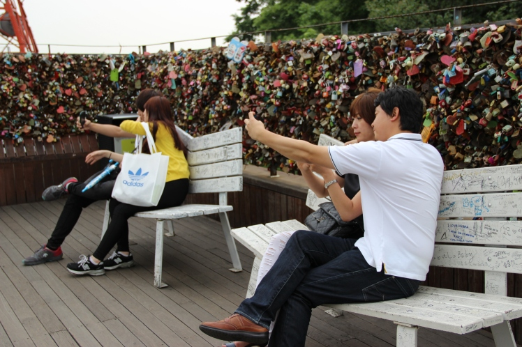 With Love benches... for the shy couples. To take more self-pics on.