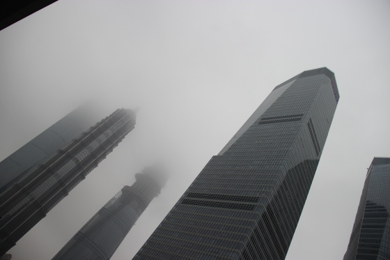 A trip out to the Bund only resulted in this view of the fog/smog.