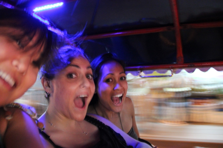 Our very first tuk-tuk ride to nowhere!!