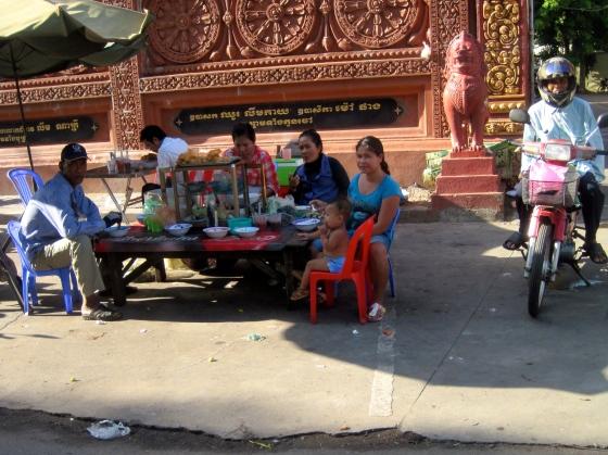Breakfast on the streets.